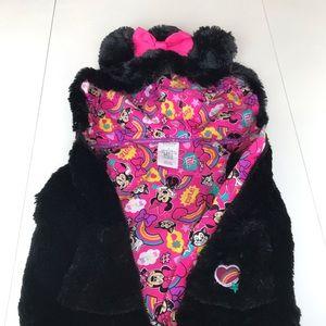 Disney Size 3 furry hooded vest